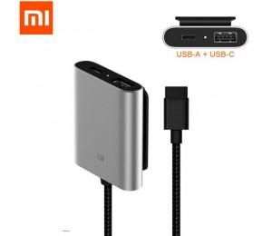 Original Xiaomi Auto Ladegerät QC3.0 Schnelle Version Extended Zubehör teile quaick ladung USB-A USB-C Dual Port Ausgang