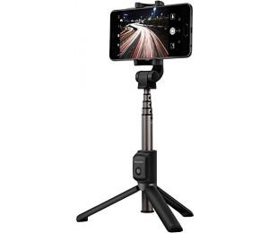 Huawei AF15 Bluetooth Selfie Stick Stativ 2 in 1 Design Tragbare Drahtlose Steuerung Anti-slip 360 Grad Rotation Einstellbar stehen