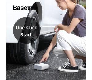 Baseus Intelligente Reifenfüller Auto Tragbare Luftkompressorpumpe DC 12 Volt Auto Reifen Luftpumpe für Auto mit LED-Leuchten