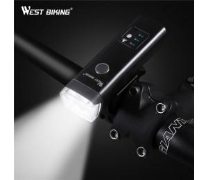 WEST BIKING Fahrradscheinwerfer Sensor USB Lade Fahrrad wasserdichte Taschenlampe