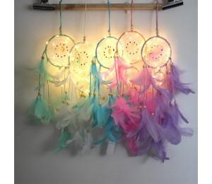 Dream Catcher LED Beleuchtung Feder Schlafzimmer Romantische Hängende Dekoration