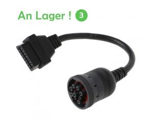 Auto J1939 Deutsch 9 Pin zu OBD2 16 Pin Lkw Diagnistic Stecker Kabel