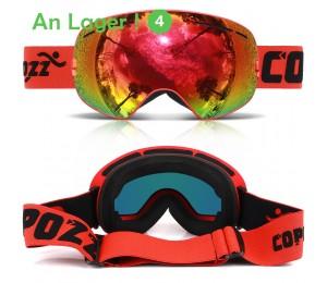 COPOZZ Skibrille Doppelschicht UV400 Anti-Fog große Skimaskenbrille