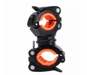 Drehen Fahrrad Licht Halter Universal MTB Rennrad Taschenlampe Clip Montieren Doppel Halter LED Front Kopf Lampe Montieren