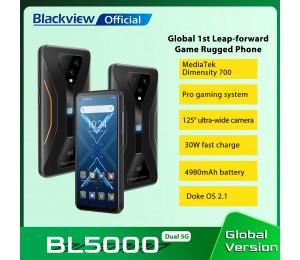 Blackview BL5000 Dual 5G Smartphone IP68 Wasserdicht 30W Schnelle Ladung Robuste Gaming Telefon 8GB + 128GB 4980mAh Globale Handy