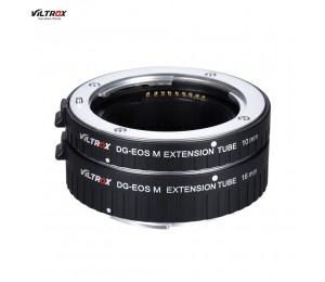 Viltrox DG-EOS M Automatische Extension Tube 10mm und 16mm Autofokus für Canon EF-M Montieren Serie Spiegellose Kamera und Objektiv
