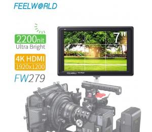 FEELWORLD FW279 7 Zoll Ultra Helle 2200nit auf Kamera Feld DSLR Monitor Full HD 1920x1200 4K HDMI eingang Ausgang Hohe Helligkeit