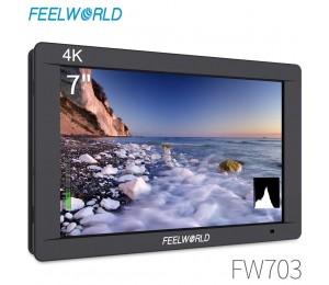 FEELWORLD FW703 7 Zoll IPS Full HD 3G SDI 4K HDMI Auf Kamera DSLR Feld Monitor 1920x1200 mit Histogramm für Stabilisator Kamera