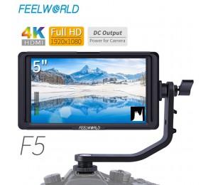 """FEELWORLD F5 5"""" DSLR Auf Kamera Feld Monitor Kleine Full HD 1920x1080 IPS Video Peaking Focus Assist mit 4K HDMI 8,4 V DC Ausgang"""