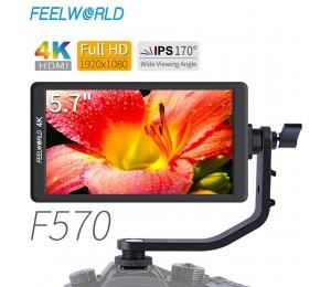 "Feelworld F570 5.7 ""IPS Full HD 1920x1080 4K HDMI Auf-kamera Feld Monitor für Canon nikon Sony DSLR Kamera Gimbal Rig"