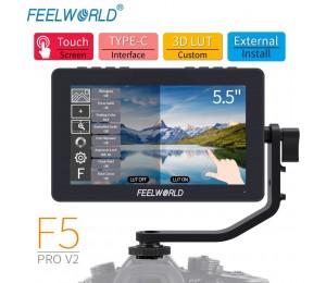 FEELWORLD F5 Pro V2 5,5 Zoll auf DSLR Kamera Feld Monitor Touchscreen 3D LUT FHD1920 1080 4K HDMI video Focus Assist für Gimbal