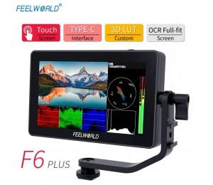 FEELWORLD F6 PLUS 5,5 Zoll auf Kamera DSLR Feld Monitor 3D LUT Touchscreen IPS FHD 1920x1080 Video focus Assist Unterstützung 4K HDMI