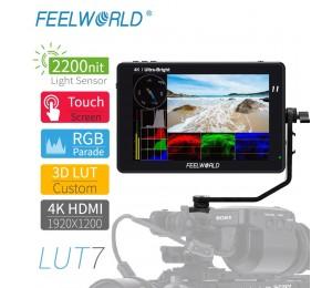 FEELWORLD LUT7 7 Zoll 3D LUT 2200nits Touchscreen DSLR Kamera Feld Monitor mit Wellenform VectorScope Histogramm