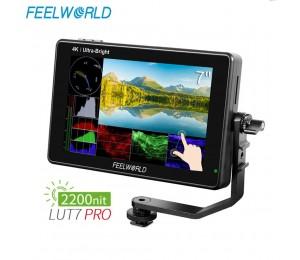 FEELWORLD LUT7 PRO 7 Zoll 2200 nits 3D LUT Touchscreen DSLR Kamera Feld Direktor AC Monitor mit F970 Externe power Installieren Kit