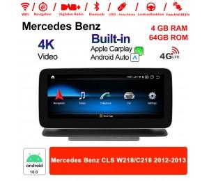 10.25 Zoll Qualcomm Snapdragon 625 (MSM8953) 8 Core Android 10.0 4G LTE Autoradio / Multimedia 4GB RAM 64GB ROM Für Mercedes Benz CLS W218 / C218 2012 - 2013 Mit WiFi NAVI Bluetooth USB Built-in CarPlay