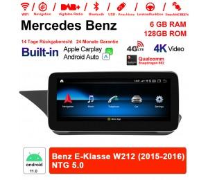10.25 Zoll Snapdragon 662 8 Core Android 11.0 4G LTE Autoradio / Multimedia 6GB RAM 128GB ROM Für Benz E-Klasse W212 2015-2016 Built-in CarPlay
