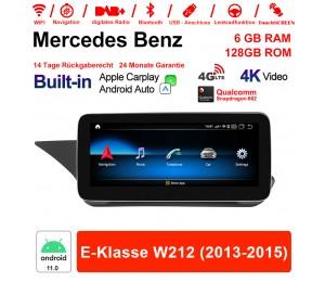 10.25 Zoll Snapdragon 662 8 Core Android 11.0 4G LTE Autoradio / Multimedia 6GB RAM 128GB ROM Für Benz E-Klasse W212 2013-2015 Built-in CarPlay