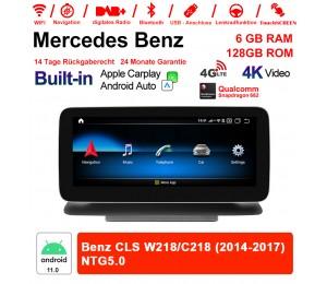 10.25 Zoll Snapdragon 662 8 Core Android 11.0 4G LTE Autoradio / Multimedia 6GB RAM 128GB ROM Für Benz CLS W218/C218 2014-2017 Built-in CarPlay