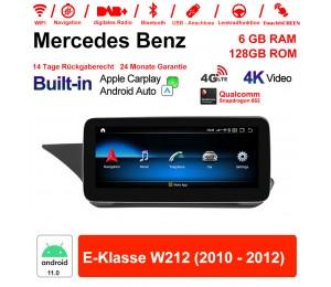 10.25 Zoll Snapdragon 662 8 Core Android 11.0 4G LTE Autoradio / Multimedia 6GB RAM 128GB ROM Für Benz E-Klasse W212 2010 - 2012 Built-in CarPlay
