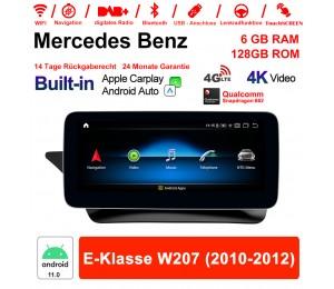 10.25 Zoll Snapdragon 662 8 Core Android 11.0 4G LTE Autoradio / Multimedia 6GB RAM 128GB ROM Für Benz E-Klasse W207 2010-2012 Built-in CarPlay
