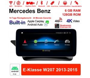 10.25 Zoll Snapdragon 662 8 Core Android 11.0 4G LTE Autoradio / Multimedia 6GB RAM 128GB ROM Für Benz E-Klasse W207 2013-2015 Built-in CarPlay