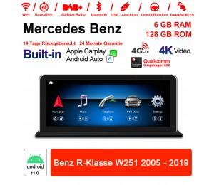 8.8 Zoll Snapdragon 662 8 Core Android 11.0 Autoradio / Multimedia 6GB RAM 128GB ROM Für Benz R-Klasse W251 2005-2017 Built-in CarPlay
