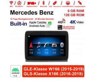 9 Zoll Snapdragon 662 8 Core Android 11.0 4G LTE Autoradio/Multimedia 6GB RAM 128GB ROM Für Benz GLE class W166/GLS class X166 Built-in CarPlay
