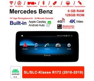9 Zoll Snapdragon 663 8 Core Android 11.0 Autoradio / Multimedia 6GB RAM 128GB ROM Für Benz SL/SLC-Klasse R172 2016-2019 Built-in CarPlay