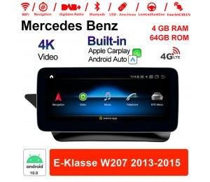 10.25 Zoll Qualcomm Snapdragon 625 (MSM8953) 8 Core Android 10.0 4G LTE Autoradio / Multimedia 4GB RAM 64GB ROM Für Benz E-Klasse W207 2013-2015 Mit WiFi NAVI Bluetooth USB Built-in CarPlay Android Auto