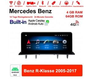 10.25 Zoll Qualcomm Snapdragon 625 8 Core Android 10.0 4G LTE Autoradio / Multimedia 4GB RAM 64GB ROM Für Benz R-Klasse 2005-2017 Mit WiFi NAVI