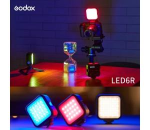 Godox LITEMONS LED6R RGB LED Video Licht Wiederaufladbare Mini Füllen-in Licht 3200K-6500K Dimmbare 13 beleuchtung Effectsfor Vlog Live