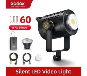 Godox UL60 UL-600 60W 5600K Farbe Temperatur Stille Bowens Berg LED Video Licht Fernbedienung und App Unterstützung