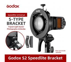 Godox S2 Bowens Berg-S-typ Halter Halterung für Godox V1 V860II AD200 AD400PRO Speedlite Flash Snoot Softbox