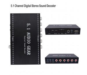 5.1 Audio Gear Sound Decoder Digital Audio Converter Gear Surround Sound Rush Decoder For DVD Playe