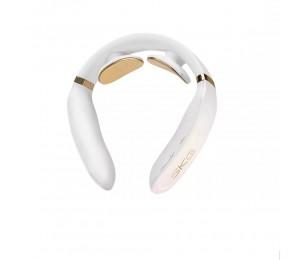 SKG Nacken-Massagegerät K6 Weiß Elektrische Impulsentlastung Nackenschmerz Halswirbelsäulen-Massagegerät Sound Prompt 4 Modi 15 Intensität Erwärmung ARM 120g