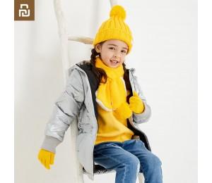 Xiaomi Youpin Winter Kinder stricken Handschuhe Hut Schal Anzug Komfortabel Warm halten Hautfreundlich für Jungen Mädchen