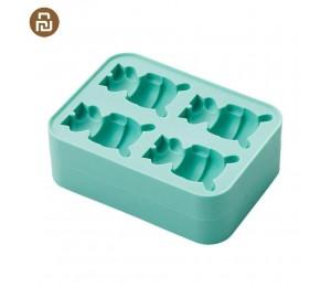 Xiaomi Mijia Youpin Mitu Eiswürfelschale Kaninchen Süße Form Eiswürfel 4 Würfel Eisform Gesunde Lagerbehälter Schalenform