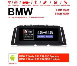 10.25 Zoll Qualcomm Snapdragon 625 (MSM8953) 8 Core A53 2.0 GHZ Android 9.0 Autoradio / Multimedia 4GB RAM 64GB ROM Für BMW 7 Serie F01 F02 CIC / NBT Mit WiFi NAVI Bluetooth USB