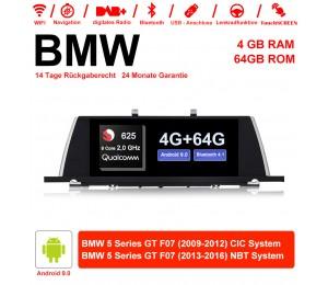 10.25 Zoll Qualcomm Snapdragon 625 (MSM8953) 8 Core A53 2.0 GHZ Android 9.0 Autoradio / Multimedia 4GB RAM 64GB ROM Für BMW 5 Serie GT F07 Mit WiFi NAVI Bluetooth USB