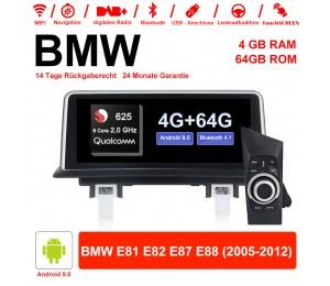 10.25 Zoll Qualcomm Snapdragon 625 (MSM8953) 8 Core A53 2.0 GHZ Android 9.0 Autoradio / Multimedia 4GB RAM 64GB ROM Für BMW 1 Serie E81 E82 E87 E88 Mit WiFi NAVI Bluetooth USB