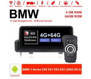 10.25 Zoll Qualcomm Snapdragon 625 (MSM8953) 8 Core A53 2.0 GHZ Android 9.0 Autoradio / Multimedia 4GB RAM 64GB ROM Für BMW 3 serie E90 E91 E92 E93 Mit WiFi NAVI Bluetooth USB