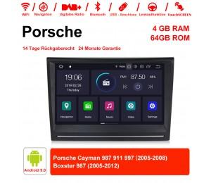8 Zoll Android 9.0 Autoradio / Multimedia 4GB RAM 64GB ROM Für Porsche Cayman 987 911 997 Boxster 987 Mit WiFi NAVI Bluetooth  USB