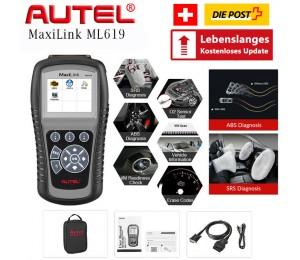 NEU Autel MaxiLink ML619 Diagnosewerkzeug OBDII Codeleser für ABS / SRS-System Automative Scanner Erlischt Warnleuchte