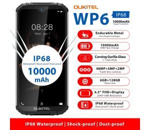 OUKITEL WP6 6.3 Zoll 19.5: 9 Mobiltelefon MT6771T Octa Wasserdichter stoßfester 9V / 2A 10000mAh Akku 6G RAM 128G ROM Smartphone