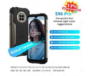DOOGEE S96 Pro Wasserdichtes, robustes Telefon 48 MP runde Quad-Kamera 20 MP Infrarot-Nachtsicht Helio G90 Octa Core 8 GB + 128 GB 6350 mAh