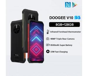 DOOGEE V10 6.39'' IP68/IP69K Android 10 Dimensity700 5G Octa Core 8GB RAM 128GB ROM Robustes Telefon 8500mAh Akku Schnellladung NFC