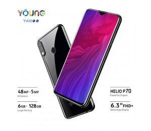 "OUKITEL Y4800 6,3 ""19,5: 9 FHD + Android 9.0 Handy Octa Core 6G RAM 128G ROM Fingerprint 4000mAh 9 V/ 2A Gesicht ID Smartphone"