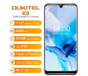 "OUKITEL K9 Waterdrop 7,12 ""FHD + 1080*2244 16MP + 2MP/8MP Smartphone 4GB 64GB gesicht ID 6000mAh 5 V/6A Quick Charge OTG Handy"
