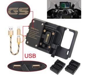 Für BMW R1200GS Handy Navigation Halterung ADV F 700 800 GS CRF1000L Africa Twin Für Honda Motorrad USB Aufladen 12MM Halterung