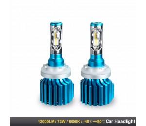 Car Headlight H4 H7 LED-Lampen H1 H11 HB4 HB3 9005 9006 9012 12V 80W 6000K 12000LM CSP-Chips Autos Lampe H8 H9 Luces Led Para Auto